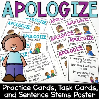 Apology Task Cards Sets