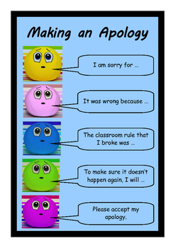 Apology Wall Chart - how to make an apology