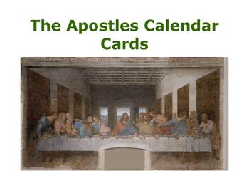 Catholic Apostles Calendar Cards