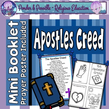 Apostles Creed Mini Book Prayer By Ponder And Possible Tpt