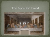 Apostles' Creed slideshow, guided notes, and cloze assessment