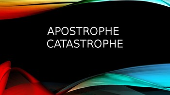 Apostrophe Catastrophes in REAL LIFE