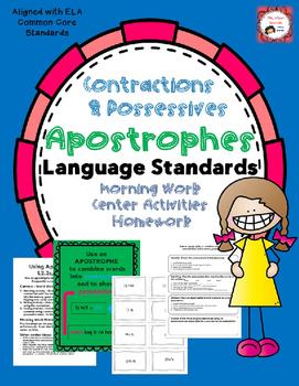 Apostrophes: Contractions & Possessive Nouns