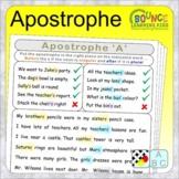 Apostrophe (4 Literacy sheets)