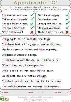 Apostrophe (4 distance learning worksheets for Literacy)