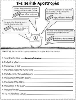 Apostrophe Practice Worksheets