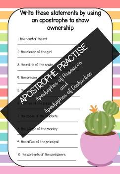 Apostrophe Practise