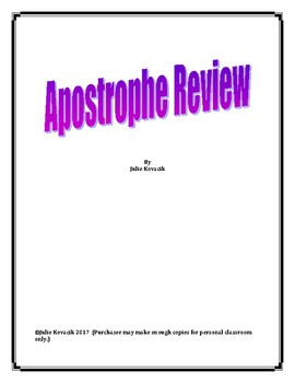 Apostrophe Review