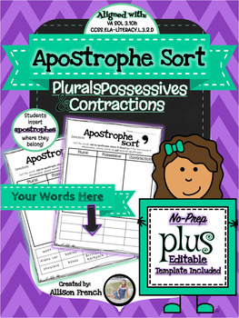 Apostrophe Sort (with Editable Template!)