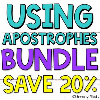 Apostrophes Task Cards and PowerPoint $$$ Savings BUNDLE