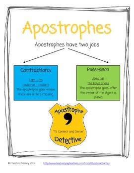 Apostrophe Toolbox for Teachers