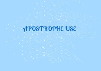 Apostrophe Use