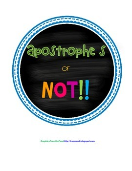 Apostrophe s or NOT!!