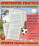 Apostrophes: 1-Page Sports-Themed Practice