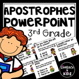 Apostrophes No Prep PowerPoint Activity for Third Graders