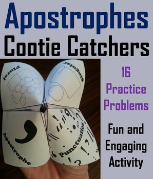 Apostrophes Activity 2nd, 3rd, 4th Grade Grammar Games Foldable