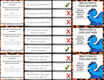 Apostrophes Activity: Apostrophes Task Cards (Possessive Nouns & Contractions)
