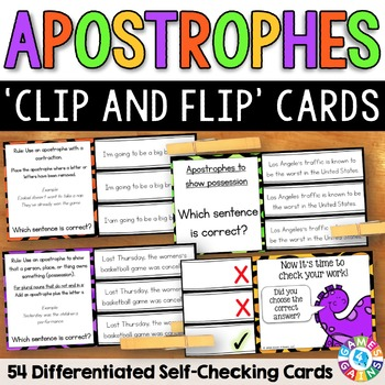 Apostrophes in Possessives and Contractions Task Cards