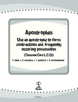Apostrophes (Common Core L.2.2c)