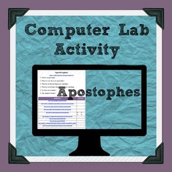 Apostrophes Computer Lab Activity