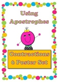 Apostrophes - Contractions 6 Poster Set