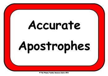 Apostrophes Display Poster Pack