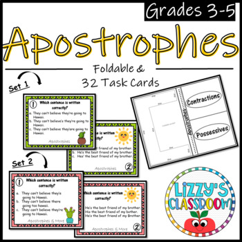 Apostrophes *Foldabale & Task Cards*
