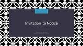 Apostrophes - Invitation to Notice