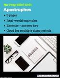 Apostrophes: Lesson + Exercise