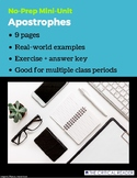 Apostrophes: Lesson + Exercise
