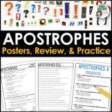 Apostrophes (Possessive / Contractions) - Worksheets, Posters & Quiz