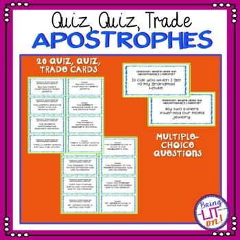 Apostrophes Quiz, Quiz, Trade