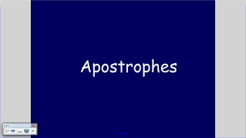 Apostrophes SMART Notebook