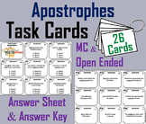 2nd 3rd 4th Grade Apostrophes Task Cards