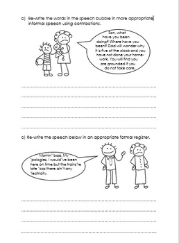 Apostrophes for contraction - exercises for practice