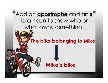 Apostrophes to Show Ownership