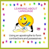 Apostrophes to form contractions and possessives