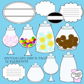 Apothecary Jar Digital clip Art Elements