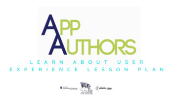 App Authors Learn About User Experience Lesson Plan