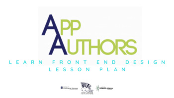 App Authors Learn Front End Design Lesson Plan