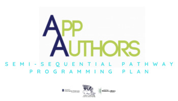 App Authors Semi-Sequential Pathway Programming Plan