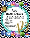 App Desk Labels
