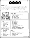 App Letter to Send Home to Parents - GREAT for Conferences