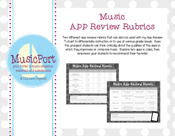 App Review Rubrics for the General Music Classroom