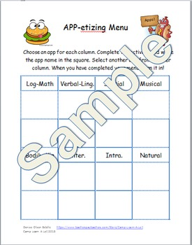 App- etizing Menu for Differentiation using iPads