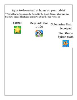 App letter for parents