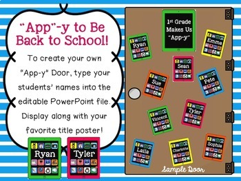 Editable Back to School Display