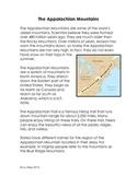 Appalachian Mountains Interactive Notebook