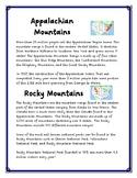 Appalachian Vs. Rocky Mountains Information and Venn Diagr