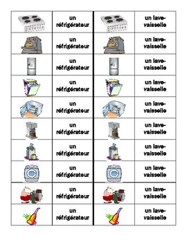 Appareils (Appliances in French) Dominoes
